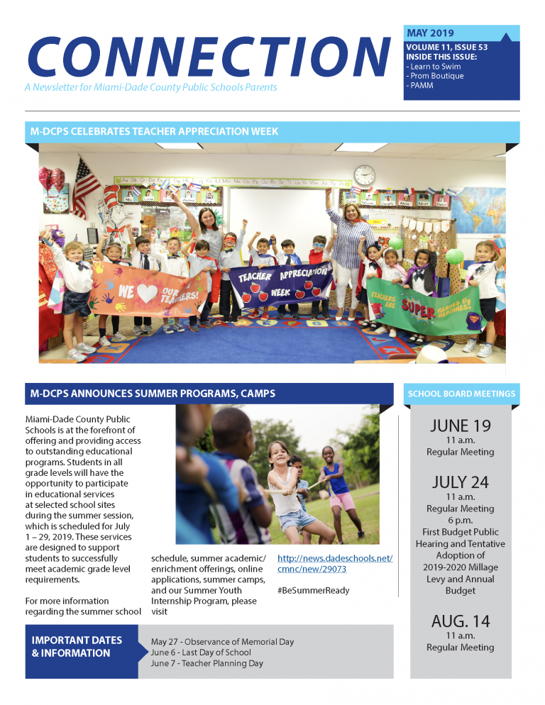 May 2019 Connection Parent Newsletter